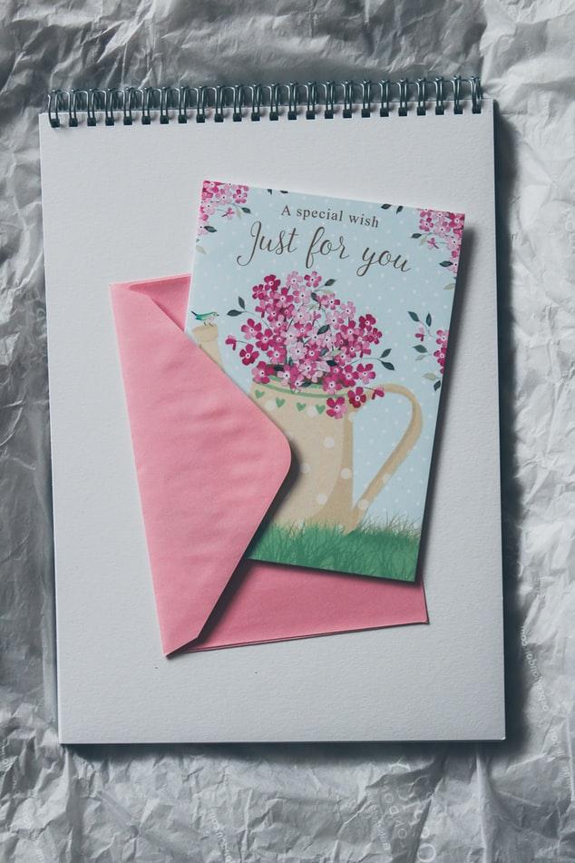 kartka ślubna z życzeniami dla rodzica