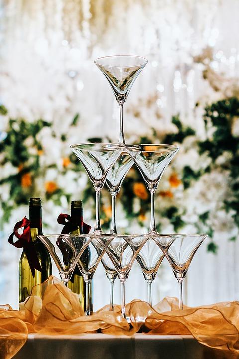 weselne kieliszki do szampana